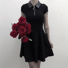 Grunge Aesthetic Vintage Pleated Evenging Party Dresses Goth