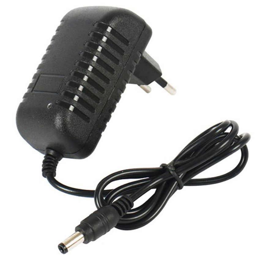 Negro 5,5*2,5mm 5,5*2,1mm 100-240V EU US 7v 1A AC a DC adaptador de fuente de alimentación cargador para equipos de alarma