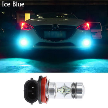 bombillas Crystal Ice BLUE H8 H11 9006 HB4 9005 H10 LED Car Fog Light 100W SMD 3030 Chip DRL Projector Fog Daytime Running Lamps image
