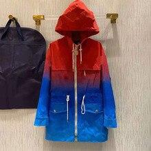 2021 autunno inverno cappotto da donna cerniera Trench tasca cappello stile sciolto Sport giovane cappotto Trench di fascia alta
