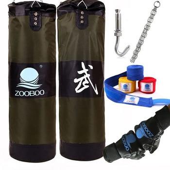 90cm Training Fitness MMA Boxsack Haken Hängen Saco De Boxe Kampf Bag Sand Punch Boxsack Sandsack mit handschuhe