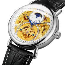 2020 חדש גברים של שעון למעלה אופנה יוקרה חלול אירופאי ואמריקאי גברים של מגולף חלול אוטומטי מכאני שעון גברים של שעון
