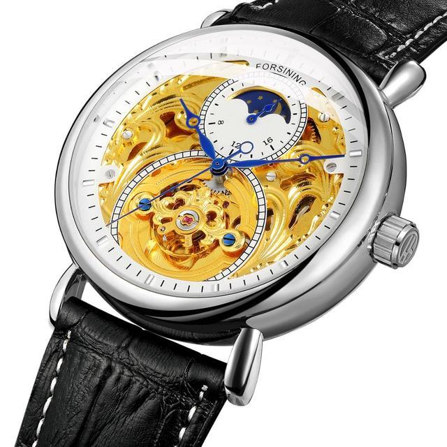 2020 ใหม่นาฬิกาแฟชั่นหรูหรากลวงยุโรปและอเมริกาผู้ชายแกะสลักกลวงอัตโนมัตินาฬิกาผู้ชายนาฬิกา