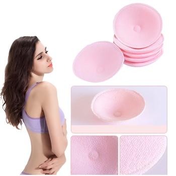 2Pairs 5Pairs Katoen + Sanitaire Spons Herbruikbare Borst Zoogcompressen Zachte 3D Cup Wasbare Pad Baby Borstvoeding Accessoires