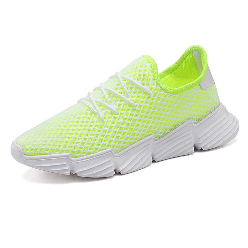 2020 yeni moda Tenis ayakkabıları erkekler için siyah beyaz sarı mavi hava Mesh çorap Sneakers spor spor ayakkabı Tenis Masculina sepet Homme