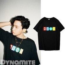 Kpop bangtan meninos camiseta coreano jhope estilo manga curta casual hip-hop manga curta topo 2020 novo álbum dynamit