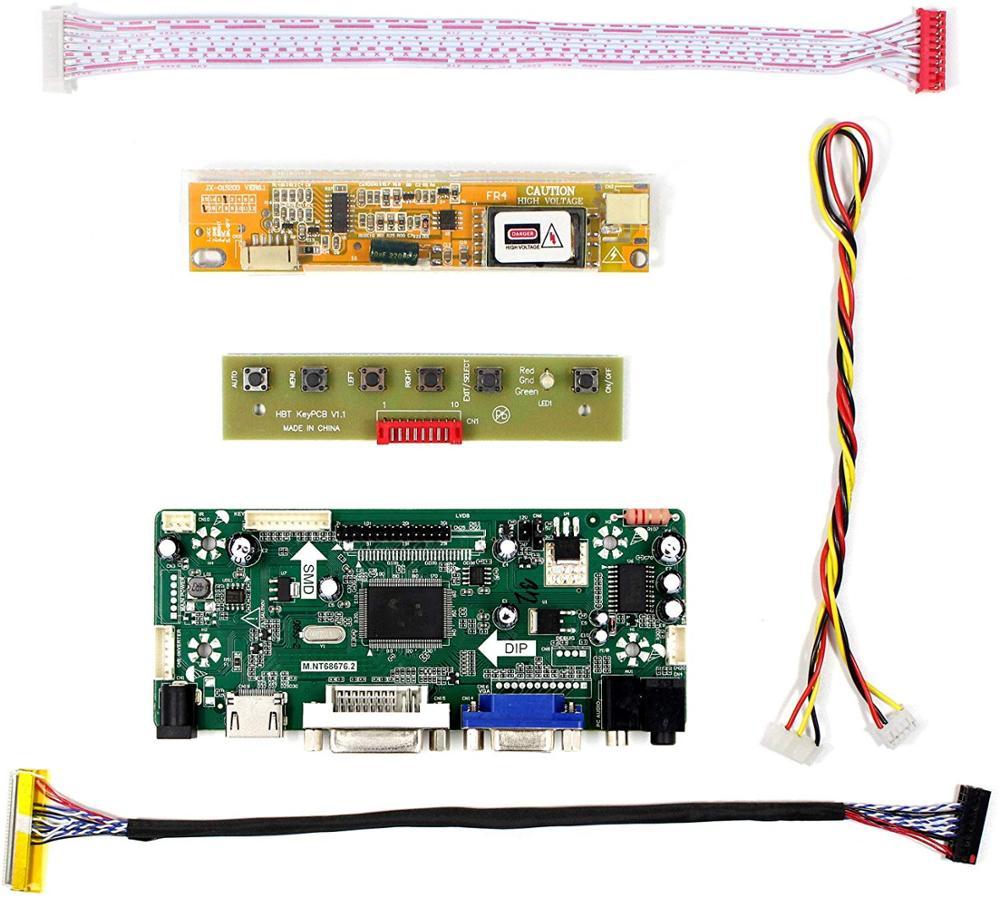 Latumab LCD LED Controller Board Driver Kit For B154EW08 LTN154AT01 LTN154AT07 HDMI + DVI + VGA M.NT68676 Driver Board