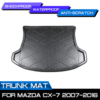 Car Rear Trunk Boot Mat Waterproof Floor Mats Carpet Anti Mud Tray Cargo Liner For Mazda CX-7 2007 2008 2009 2010-2016 image