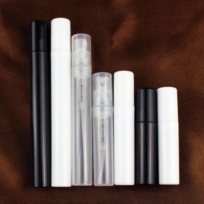 Пустая пластиковая бутылка-распылитель 50 шт./лот, 2 мл, 3 мл, 4 мл, 5 мл, распылитель для духов для макияжа, распылитель для тумана, прозрачный бе...
