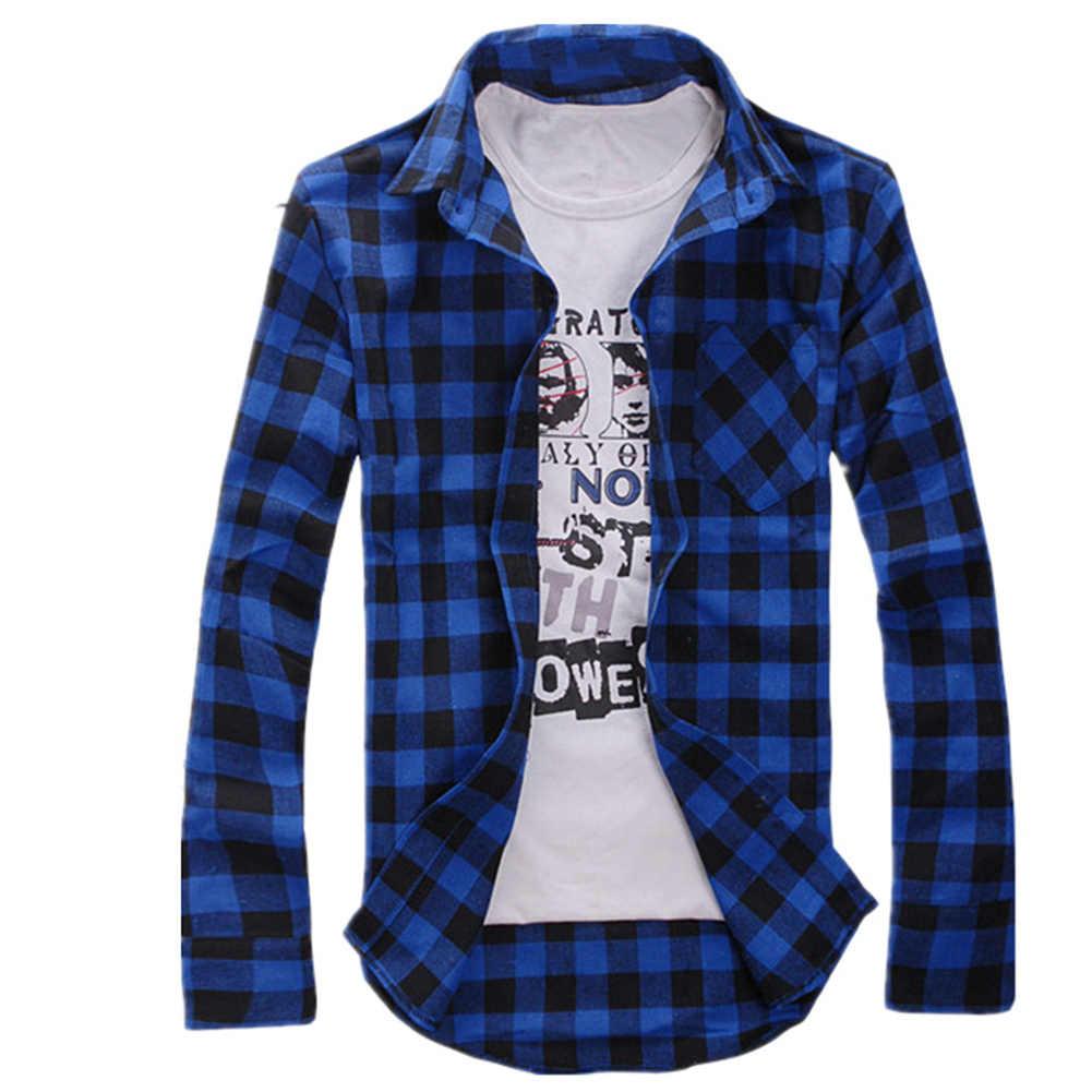 Męska luźna koszula w kratę casualowa kurtka koszulka studencka w kratę z długim rękawem koszula wiosenna i jesienna luźne dopasowane kolory koszula męska