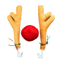 2 Antlers + 1 nose Cute Nose Horn Costume Set Horn And Red N