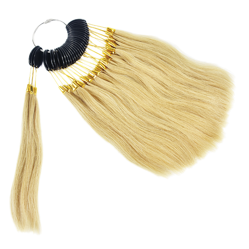 30pcs 100% Human Virgin Hair Color Ring For Hair Extensions and Salon Hair Dyeing Sample Dye Any Color Color Chart Swatch Rings