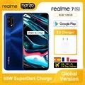 Глобальная версия Realme 7 Pro 8 ГБ 128 смартфонами Snapdragon 720G 6,4 ''amoled Экран 64MP Quad камерами 65 Вт SuperDart зарядка NFC