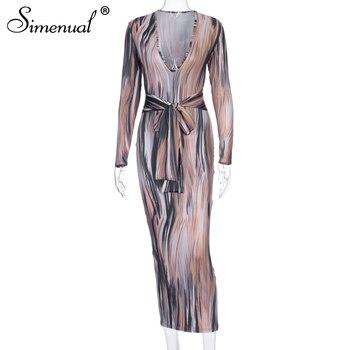 Γυναικείο sexy Μακρύ Φόρεμα με v ντεκολτέ υπέροχα χρώματα maxi clubwear