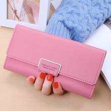 2019 new ladies pu long wallet 30% off long buckle clutch bag multi card