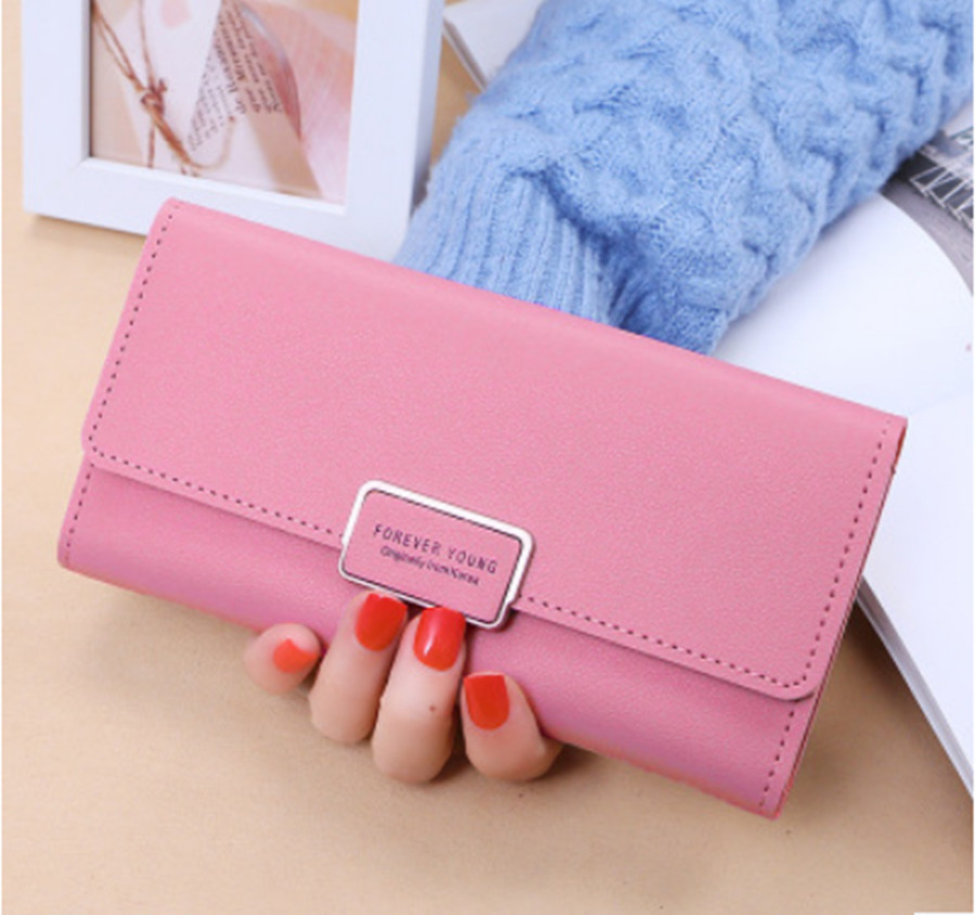 2019 New Ladies Pu Long Wallet 30% Off Long Buckle Clutch Bag Multi Card Wallet