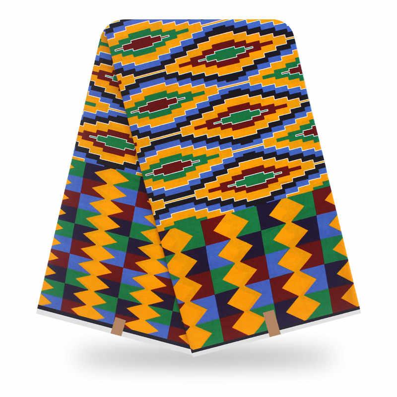Elektrische Ventilator Afrikaanse Wax Print Stof Hoge Kwaliteit Afrikaanse Nigeria Ankara Real Wax Naaien Stof
