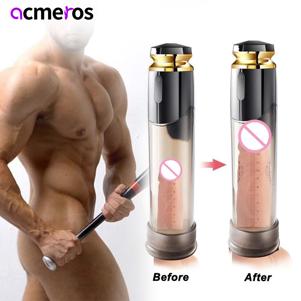 Electric Penis Pump Automatic Penis Enlargement Vacuum Dick Pump Penis Extender Cock Pump Sex Toys for Men Adult Toys Sex Shop