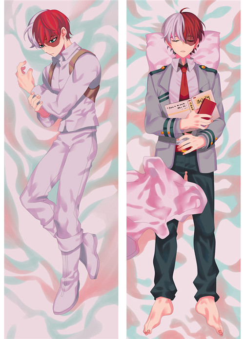 Anime My Hero Academia Todoroki Bakugou Katsuki Shouto Throw Pillow Cover Hugging Body Pillowcase Otaku BL Dakimakura Cover
