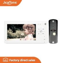 Видеодомофон jeatone 43/7 дюйма 1200tvl hd домофон с многоязычной