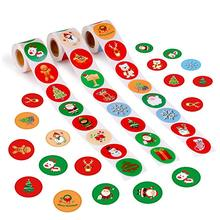 Holiday Stickers 500pcs Christmas Sticker Santa Claus Deer Decorative adhesive reward sticker school Supplies stationery