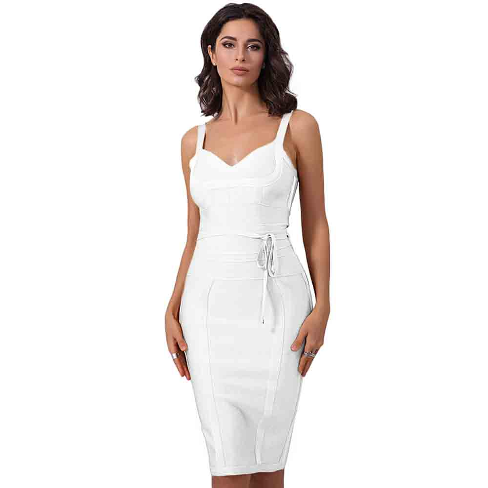 Up To 90%Off Big Sale!!!Ocstrade 10th Anniversay Shopping Festival!2020 Summer High Quality Women Sexy White Bandage Dress