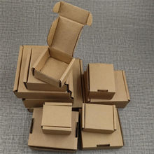 25pcs small corrugated gift boxes mini jewelry packaging box brown kraft cardboard box handmade soap diy craft paper box(China)