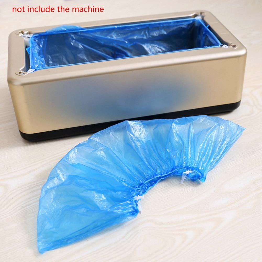 100pcs Auto Shoe Cover Machine Special Plastic Shoe Cover T Buckle Shoe Cover Household Indoor Disposable Machine Shoe Cover