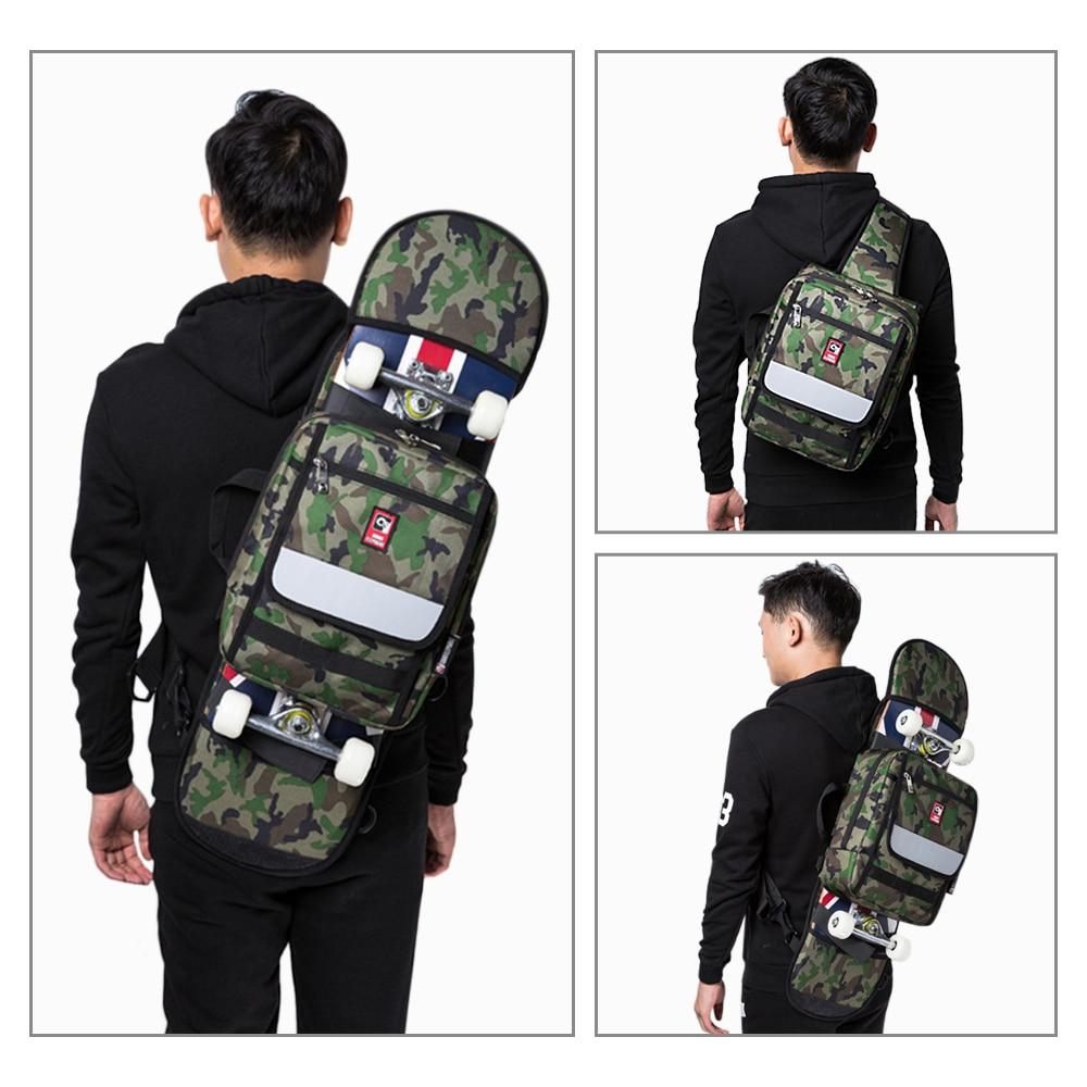 Multi-functional Skateboard Longboard Carry Bag Outdoor Sport Folding Sling Pack Handbag Shoulder Bag Skateboard Carry Bag