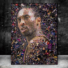Portrait of Kobe Bryant Wall Art Canvas Posters and Prints Abstract Canvas Paintings Kobe Bryant Art Pictures Home Decor Cuadros