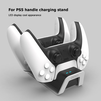 Wireless Game Controller Dual Charger Cradle for Sony Playstation 5 PS5 Joystick Gamepad Power Station with LED Light