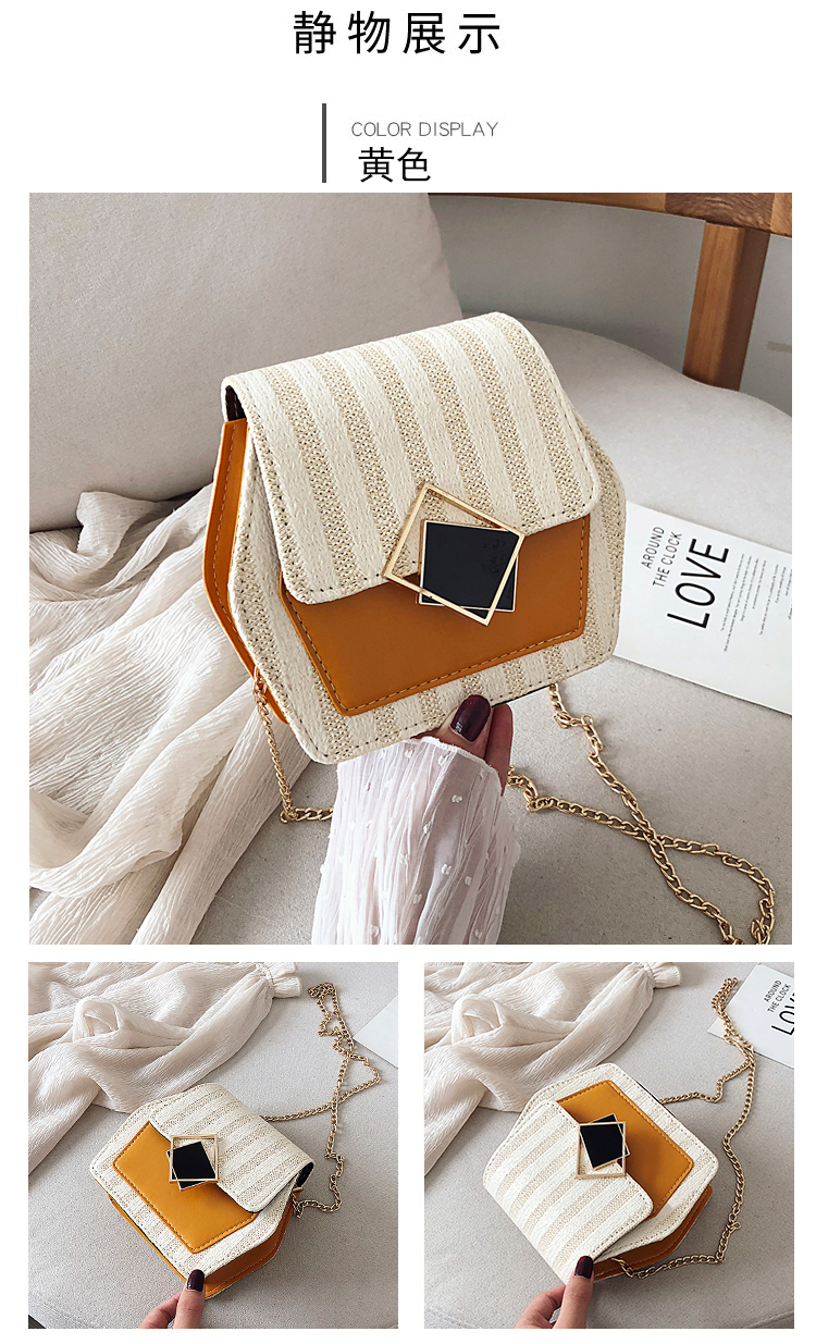 Mini Bag Girl 2019 New Korean Edition Fresh and Popular Fashion Chain PU Slant Bag Personal Bag Mobile Geometric Bag Clothes 78
