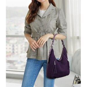 Image 4 - New Buckskin Suede Crossbody Bags For Women 2020 Luxury Handbags Women Bags Designer Vintage High Quality Shoulder Bag For Lady