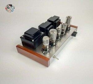 Image 4 - 2021 Nobsound Family 2.0 wzmacniacze lampowe DIY Kit 5U4C + 6H8C + 6P3P obudowa ze stali nierdzewnej moc wyjściowa 2*8W AC110V/220V