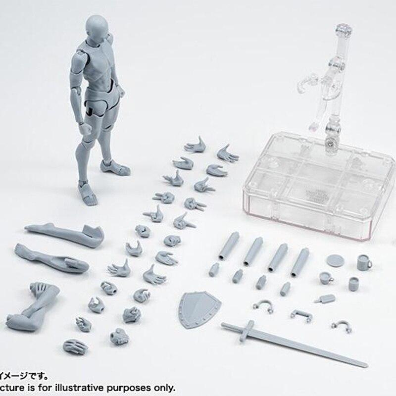 Boxes Body Kun DX Set movable Figures BODY KUN / BODY CHAN Grey / Orange Color Ver PVC Action Figure Collectible Model Toys(China)