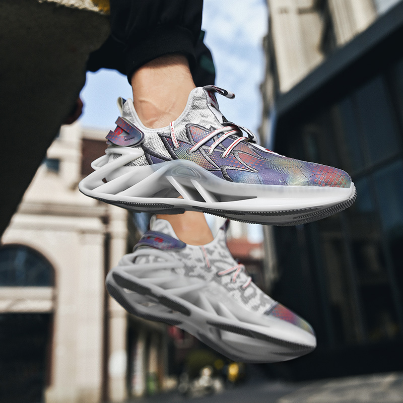 Chaussures décontractées pour hommes chaussures plates pour hommes chaussures de sport respirantes chaussures de jogging en plein air Zapatos Hombre chaussures de lame d'amorti