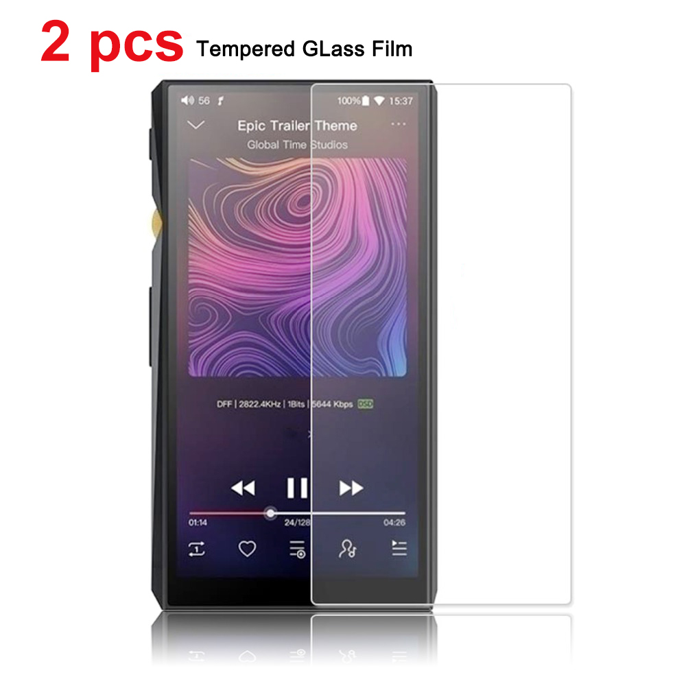 2 Pieces Scratch-Proof Front Screen Tempered Film for FiiO M11 - m11 pro