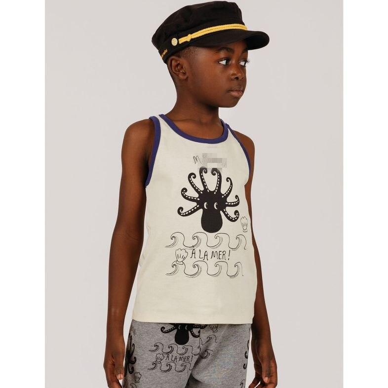 2021 Summer Children T-shirt Mini Brand Kids Short Sleeve Boy Alamer Octopus Casual Baby Girls Boys T Shirt Children Clothes 3