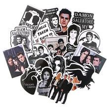 20pcs/lot The Vampire Diaries PVC Scrapbooking Car Luggage Laptop Graffiti Stickers Diy Hand Account Decoration Stickers AL2857