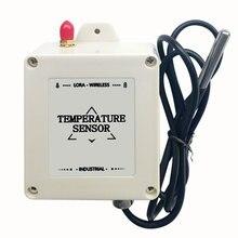 Freeshipping ds18b20 استشعار درجة الحرارة lora اللاسلكية مسجل درجة الحرارة 433 mhz/470 mhz درجة حرارة المسبار الارسال