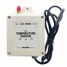 Livraison gratuite ds18b20 capteur de température lora enregistreur de température sans fil 433 mhz/470 mhz sonde transmetteur de température