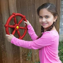 Playground-Accessories Boat Plastic House Swing Steering-Wheel Kindergarten Small Kids