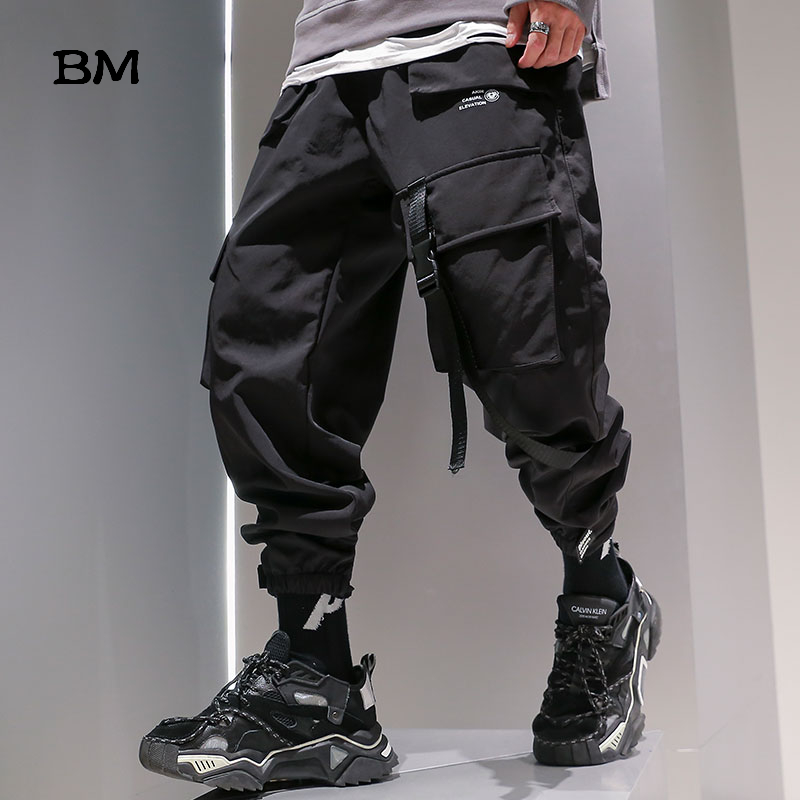 Hip Hop Track Pants 2019 Korean Style Joggers Fashions Techwear Pants EXO Mens Baggy Pants 5XL Streetwear Harem Trousers