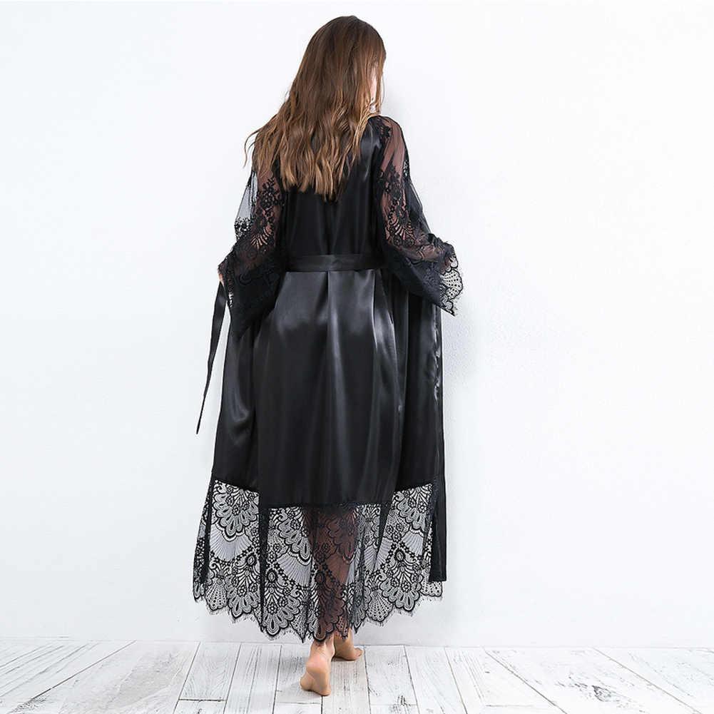 משי ארוך חתונת הכלה שושבינה Robe נשים פרחוני קימונו חלוק רחצה חלוק בתוספת גודל S-3XL