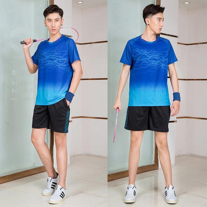 Новинка 2020, футболка для бадминтона для мужчин и женщин, рубашки для гольфа, тенниса, футболка для настольного тенниса, быстросохнущие спортивные шорты, футболка s 9909-3