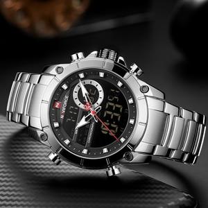Image 4 - Top Luxury ยี่ห้อ NAVIFORCE 2019 ผู้ชายใหม่กีฬานาฬิกาข้อมือควอตซ์นาฬิกาผู้ชายกันน้ำแบบ Dual นาฬิกาวันที่ Relogio Masculino