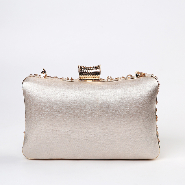 Luxury Apricot Pearl Evening Clutch   2