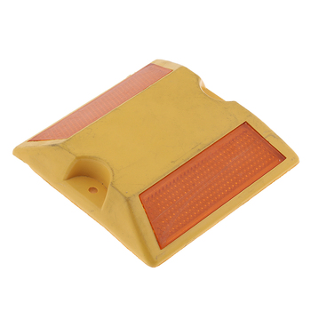 NEW Commercial Road Highway Pavement Marker Reflector - Two Side, Yellow image