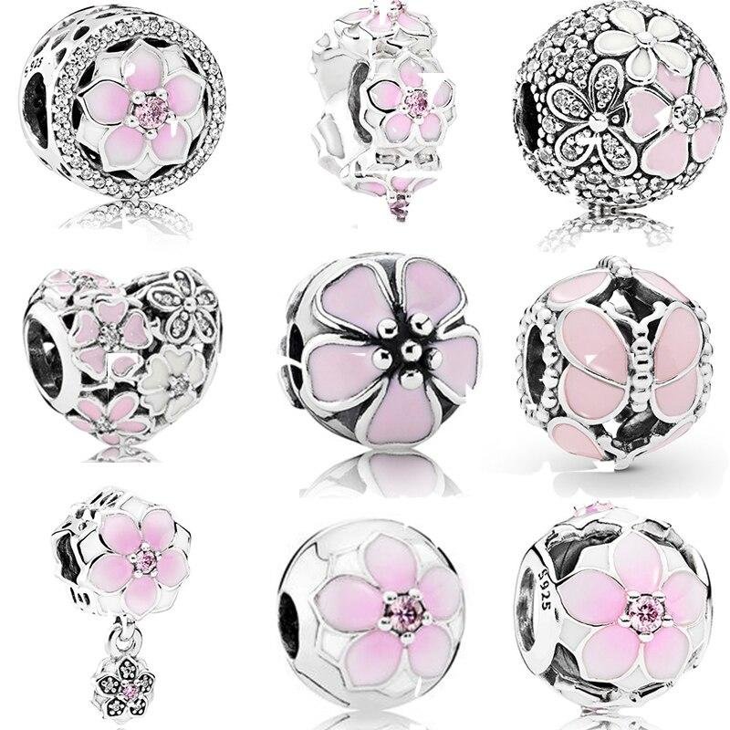 Diy joyería que hace la pulsera de mujer se ajusta a los encantos de Pandora plata 925 Original Regalos Bisuteria kraien Voor sirenen