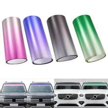 Lámina de protección Solar para parabrisas delantero, película de tintado superior de 20x150cm, color negro/Verde/púrpura, parasol para conducción de conductores